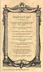 Employee Creed by Steve Linsky