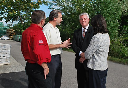 VP of Sales Mike McDole and CEO Steven Kaitz with Mayor Scott Avedisian and Lt. Gov. Elizabeth Roberts