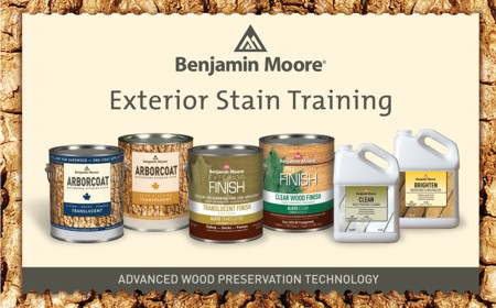 Benjamin Moore Exterior Stain Training Sessions | National Lumber's ...