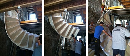 Custom Curved Stairs Delivery