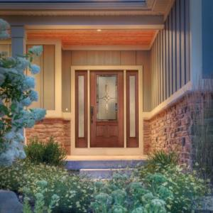 Therma-Tru-Fiber-Classic-Mahogany-3-panel-style-door
