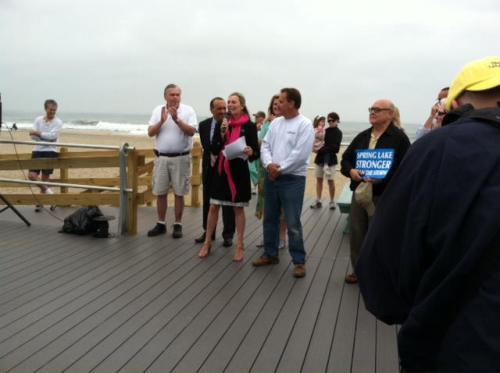 New Jersey boardwalk built using TimberTech Composite Decking.