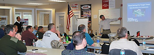 Shawn McCadden training a class at National Lumber in Mansfield, MA