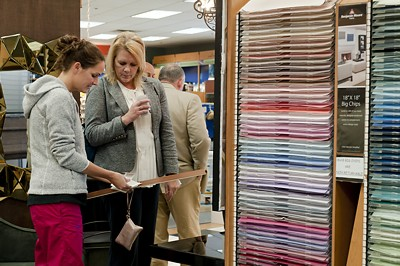 Babel's customer selecting paint colors.jpg