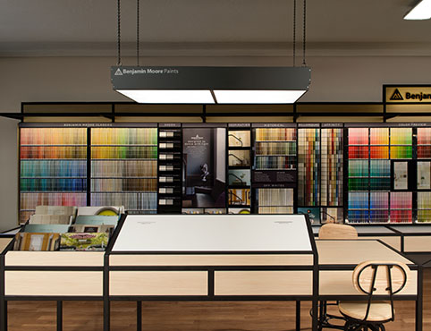 Introducing our remodeled benjamin moore stores national for Benjamin moore paint program